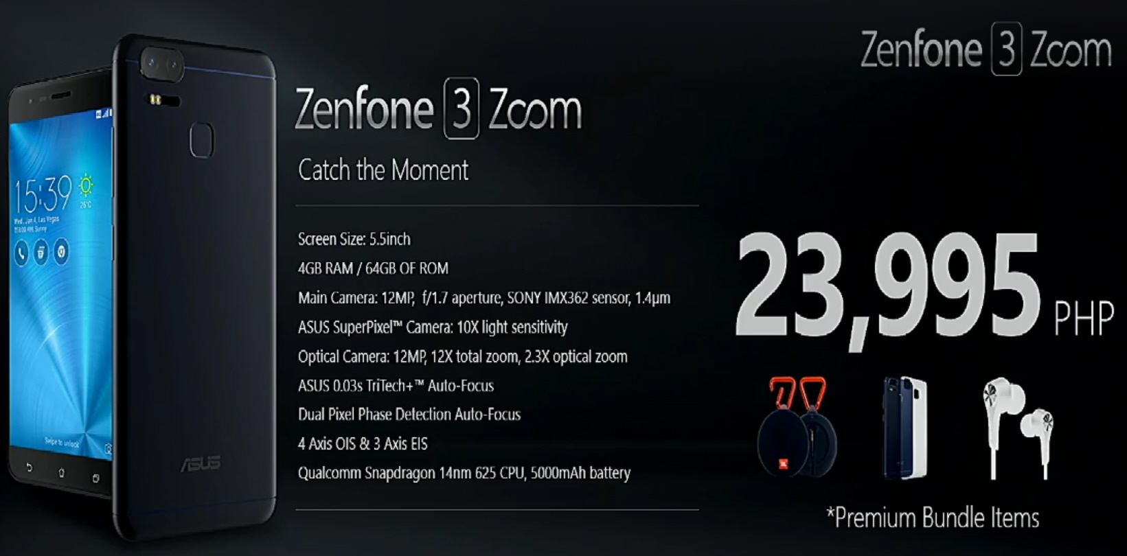 Philippines Officially Gets Zenfone 3 Zoom ZE553KL And